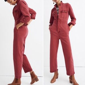 Madewell Garment-Dyed Denim Slim Coverall Jumpsuit